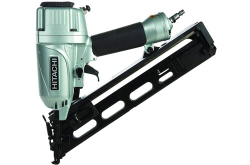 Hitachi NT65MA4 Angled Electric Finishing Nail Gun with Air Duster