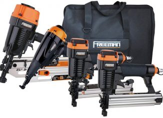 Freeman P4FRFNCB Pneumatic Nail Gun with Canvas Bag