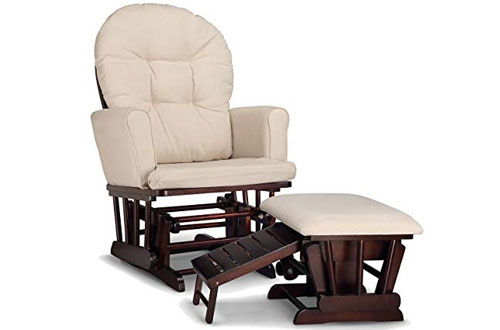 Strokcraft Graco Rocking Glider Chair & Nursing Chair with Ottoman