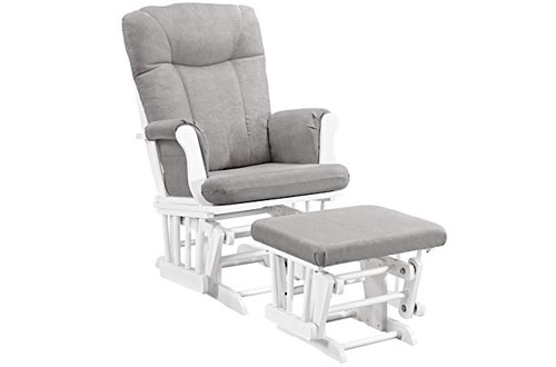 Angel Line Monterey Glider & Ottoman with Gray Cushion