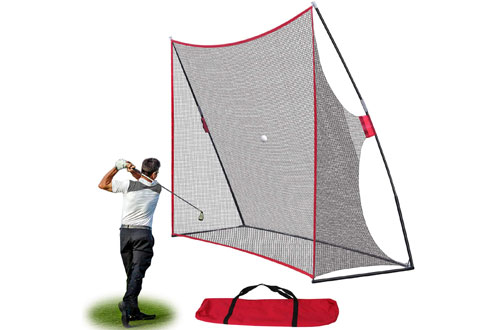 Smartxchoices Backyard Golf Practice Driving Net with Tri-Turf Golf Hitting Mat