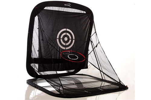 Spornia SPG-7 Golf Practice Net - Automatic Ball Return System with Target Sheet