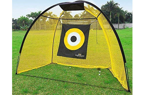 PodiuMax Portable Indoor Golf Hitting Net with Target Sheet - Durable Golf Driving Net