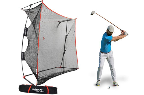 RukketHaack Golf Net -Practice Driving Net at Home Swing Training Aids