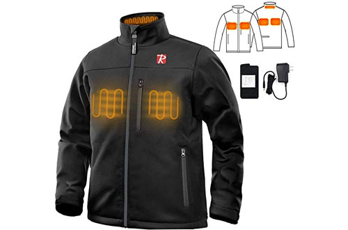 RioRand 7.4V 10050mAh Battery Heated Jacket for Men