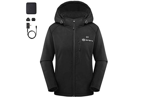 ororo Women's Heated Jacket with Battery Pack & Detachable Hood