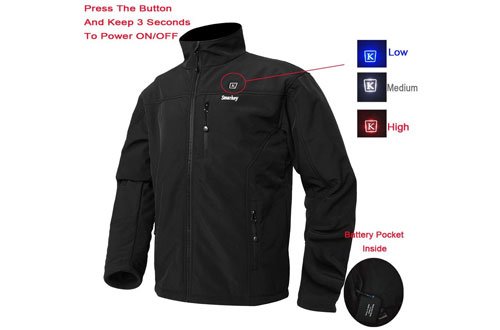 Smarkey Cordless Electric Heated Jacket for Men