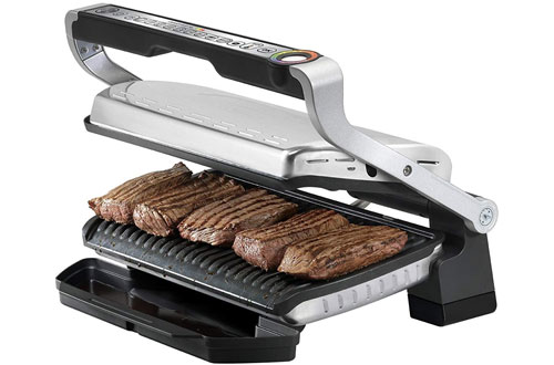 T-fal OptiGrill XL Stainless Steel Indoor Electric Grill with Removable Plates