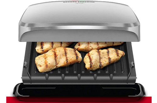 George Foreman Electric Grill & Panini Press - 4-Serving Plates