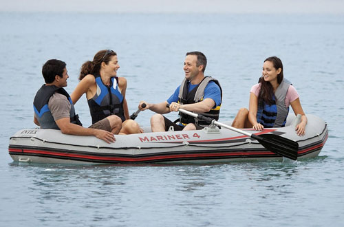 Intex Mariner 4-Person Inflatable Boat Set with Air Pump