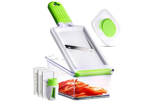 SHOOF Handheld Mandoline Slicer -Vegetable, Fruits, Food & Potato Slicer