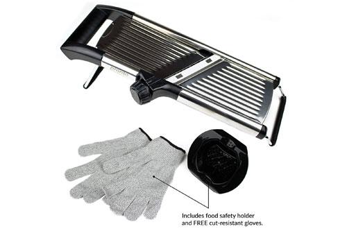 Gramercy KitchenAdjustable Stainless Steel Mandoline Food Slicer