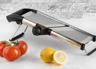 Gourmia GMS9105 Kitchen Mandoline SlicerWith Built-in Adjustable Blades