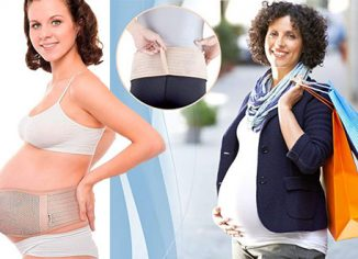 AZMED Maternity Belt for Back Support and Breathable Abdominal Binder