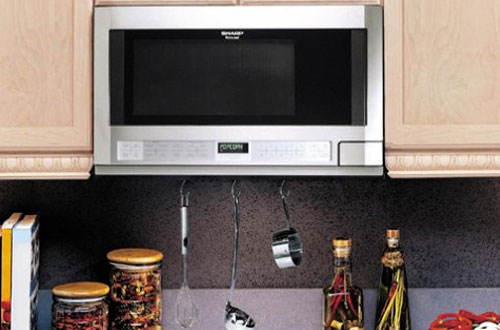 Sharp R-1214 1100-Watt Over-the-Counter Microwave Oven