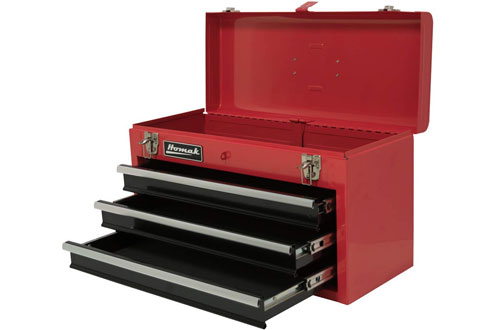 Homak RD01032101 3-Drawer Ball-Bearing Metal Toolbox/Chest