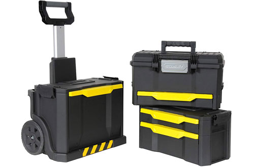 Stanley Tool Box Cart with Plastic Drawers and Toolbox