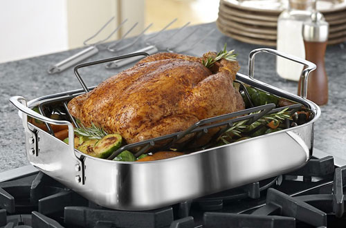 Calphalon Tri-Ply 14-Inch Stainless Steel Cookware Roaster