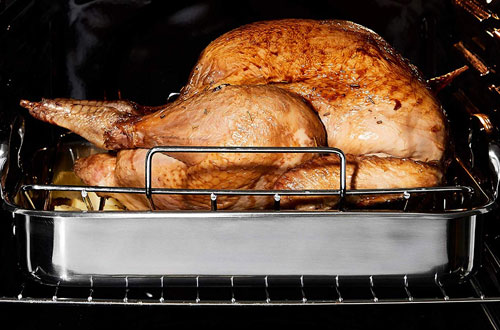 VonShef Stainless Steel Turkey Roaster Pan with Rack for Roasting