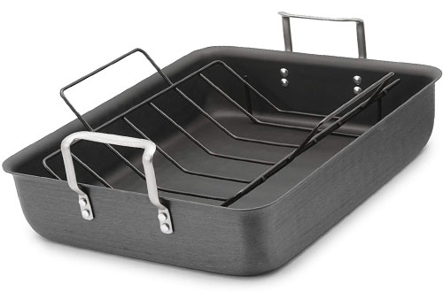 Calphalon Classic Hard Anodized Aluminum Roasting Pan with Nonstick Rack
