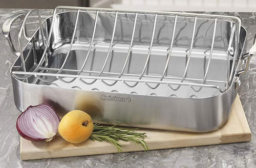 Cuisinart MCP117-16BR All-Clad Rectangular Turkey Roaster with Rack