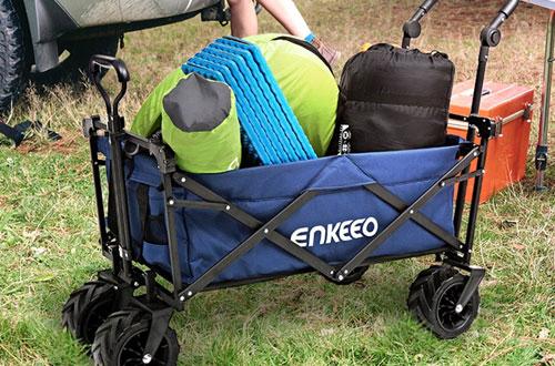 ENKEEO FoldableCollapsibleUtilityWagon for Beach & Camping