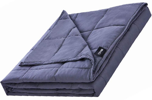 ZonLi Adult Weighted Blanket 20 lbswith Glass Beads