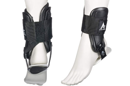 Active Ankle Brace & Rigid Ankle Stabilizer for Protection & Sprain Suppor