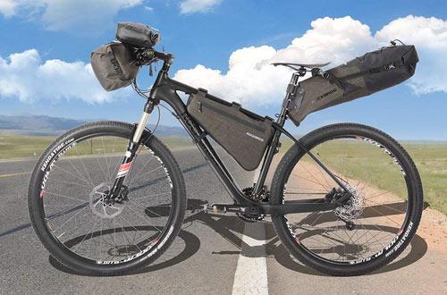 RockBros Waterproof Bikepacking Bike Saddle Bag - Cycling Rear Seat Pack