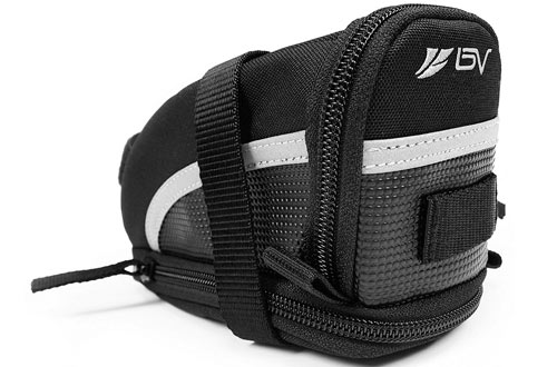 BV Bicycle Strap-On Bike Saddle Bag, Seat Bag & Cycling Bag