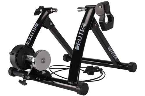 Deuter Portable Indoor Bike Trainer - Magnetic Bicycle Stationary Stand