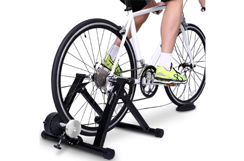 SportneerSteel Bicycle Exercise Magnetic Stand with Noise Reduction Wheel