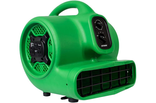 XPOWER P-430AT Medium Air Mover, Carpet Dryer, Floor Blower, and Utility Fan