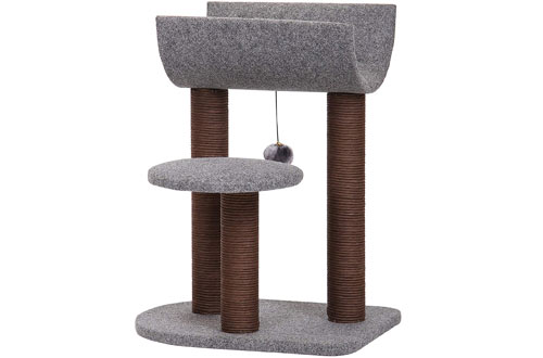 PetPals Cat Tree Cat Tower for Cat Activity with Scratching Post sand Toy Ball
