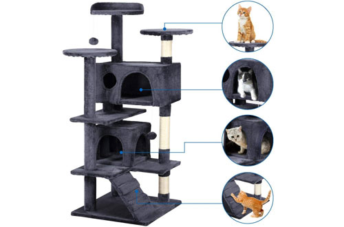 Yaheetech 51-Inch Cat Tree Tower & Scratching Post for Kittens
