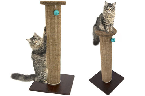 Kitty City Premium Woven Sisal Carpet Scratching Post & Scratching Mat