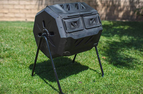 MaxWorks Garden 42 Gallon Compost Bin Tumbler with Rotating Composting Tumbler