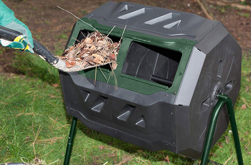 Exaco Trading Company Compost Tumbler &43 Gallon Dual Chamber Composter