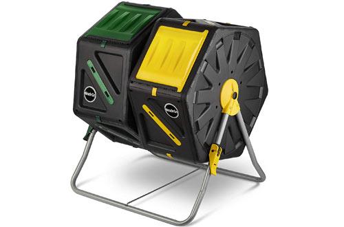 Miracle-Gro Dual Chamber Outdoor Compost Tumbler Bin