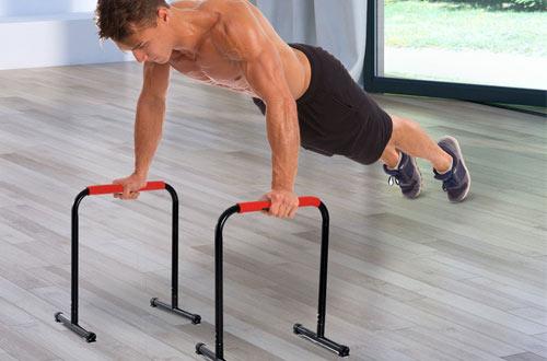 Soozier 29-Inch Durable Versatile Parallete Dip Station forIndoor/Outdoor Bars Exercise