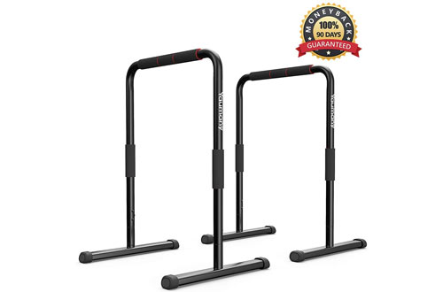 Yaumany Parallette Push-up & Pull-up Dip Bars for Body Strengthener