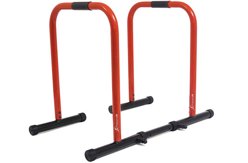 ProsourceFit Push-up Dip Stand Station & Heavy Duty Body Press Bar for Tricep Dips