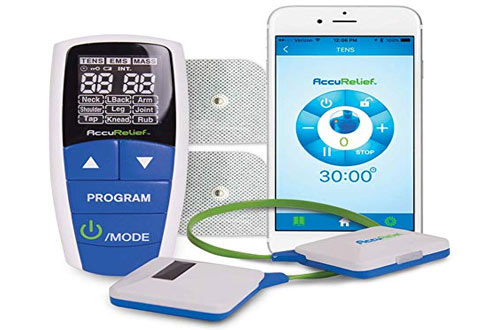 AccuRelief Wireless EMS Muscle Stimulator with Remote and Mobile App