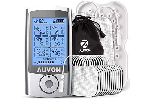 AUVON Rechargeable TENS Unit & Muscle Stimulator Machine