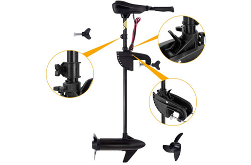 Go Plus Transom Mount Trolling Motor for Fishing Boats Freshwater and Saltwater Use