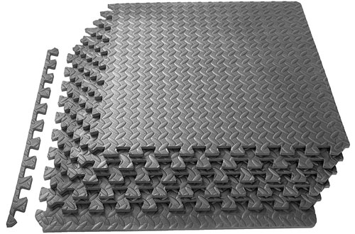 Prosource Fit Puzzle Exercise Mat Flooring for Gym Equipment