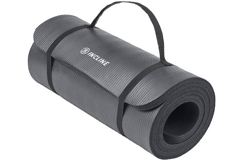 InclineAnanda 1-Inch Extra Thick Exercise Matfor Yoga, Pilates, Stretching & Meditation