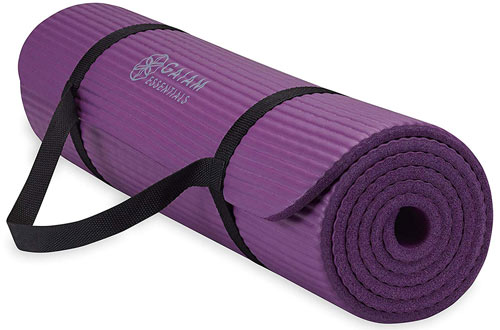 Gaiam Essentials Thick Yoga Mat Fitness and Exercise Mat