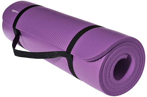 AmazonBasics 1/2-Inch Purple Extra Thick Exercise Mat