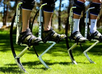 Air-Trekkers Pair of Spring Loaded Jumping Stilts